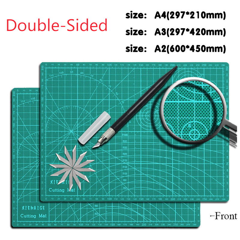 A2 / A3 / A4 Grid Line Cutting Process Pad Self-repairing Non-slip Printing Scale Board Knife High Quality Cutting Board 1 Piece