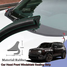 DIY Car Seal Strip Windshied Spoiler Filler Protect Edge Weatherstrip Strips Sticker Car Accessories For Jeep Renegade 2015-2020