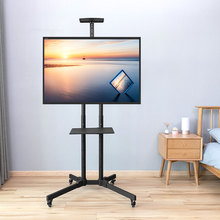 LVDIBAO TV Cart Floor Stand Mount Free Lifting Trolley Stand Mount for 32-65