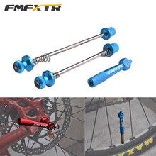 цена на Mountain Bike Hubs Quick Release Anti-theft Road Bike Metal Front Rear Shaft Rods Lightweight Folding Aluminum Alloy Bike Parts