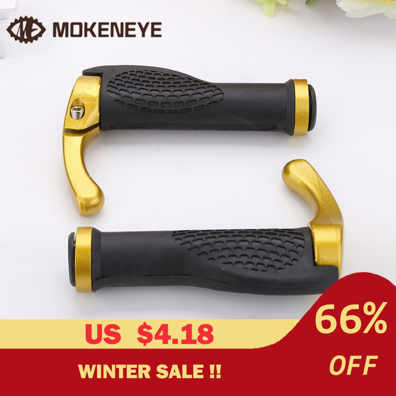 1 Pair MTB Ergonomic Mountain Bike Bicycle Grips Bar End Handlebar Grips Soft Rubber Push On Anti-Skid Parts Cycling Grips