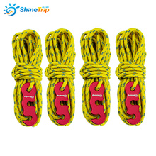 4x4m Reflective Paracord Outdoor Camping Tent Wind Rope 3mm Sun Shelter Awning with Aluminum Alloy 3 Holes Buckle Adjuster все цены