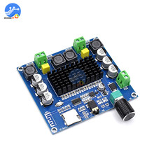 XH-A105 Bluetooth 5.0 TDA7498 digital amplifier board 2x100W Stereo Audio AMP Module Support TF Card AUX diy kit volume control(China)