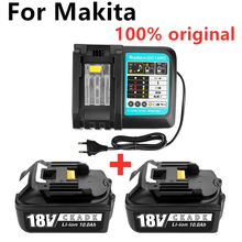 100% original BL1860 Rechargeable Battery 18V10000mAh Lithium ion for Makita 18V Battery BL1840 BL1850 BL1860B LXT400+charger