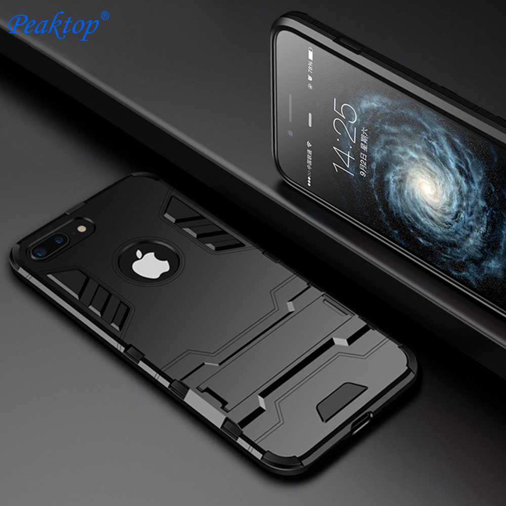 Peaktop Shockproof Armor <font><b>Phone</b></font> <font><b>Case</b></font> For Apple <font><b>iphone</b></font> X XR XS MAX Luxury TPU Protective Hard <font><b>Cases</b></font> For <font><b>iphone</b></font> 6 7 8 Plus <font><b>5SE</b></font> Coqu image