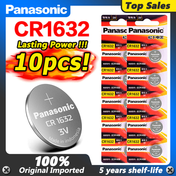 10 X original brand new battery for PANASONIC cr1632 3v button cell coin batteries for watch computer cr 1632 For Toys Watches 20pcs lot panasonic cr1632 button coin cell battery for watch car remote key cr 1632 ecr1632 gpcr1632 3v lithium batteries
