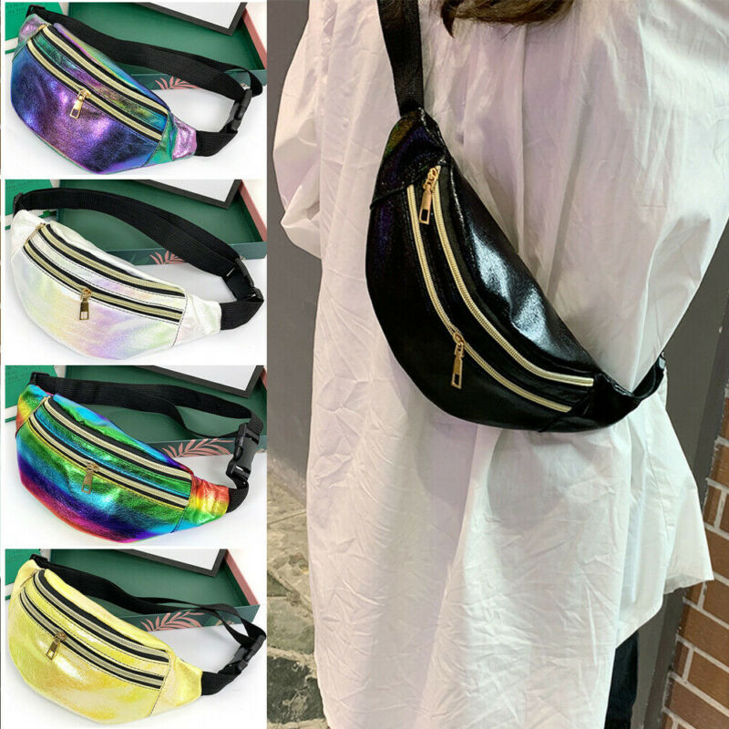 Waist Bag Fashion Trendy Women PU Leather Waist Fanny Pack Solid Color Belt Bags Chest Pouch Travel Hip Bum Bag Lady Small Purse