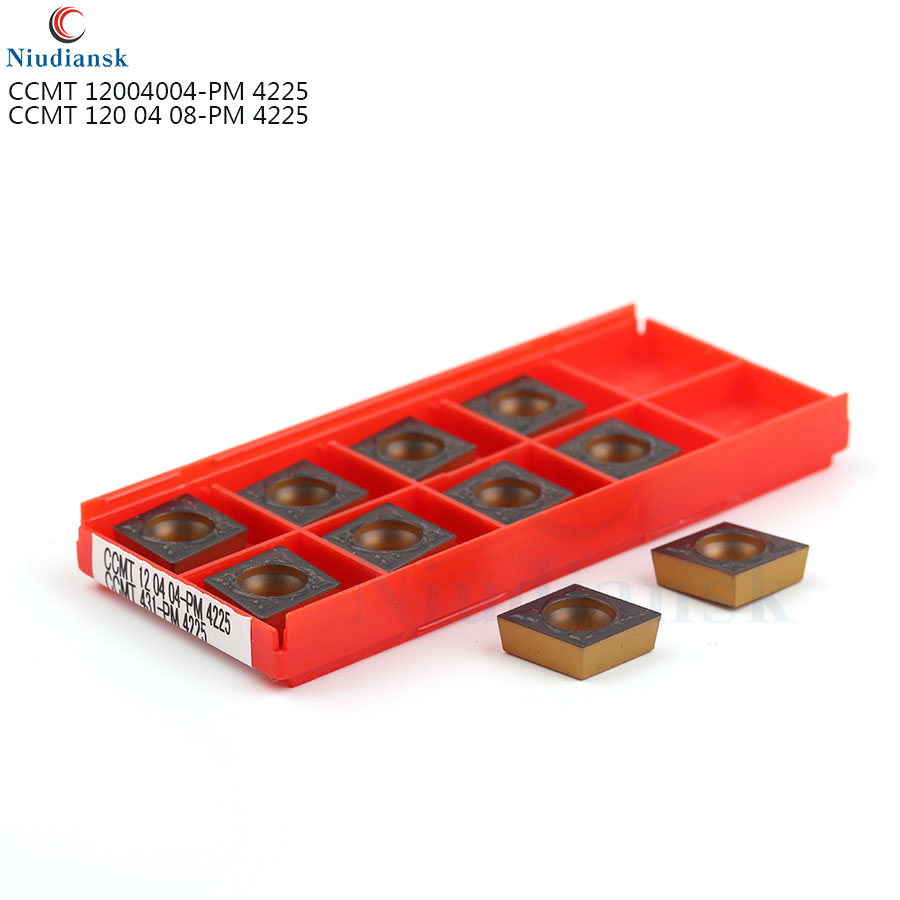 CCMT120404 CCMT120408 PM4225 Carbide Inserts External Turning Tool Turning Insert Metal lathe tools <font><b>CCMT</b></font> <font><b>120408</b></font> lathe tool image