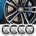 4 шт. 56 мм автомобиль концентратор Кепки колеса пылезащитные Чехлы наклейки для Jaguar XF XE XJ F-Pace подходит для Jaguar XF X-Тип S-Тип F-Тип E-Pace подходит д...