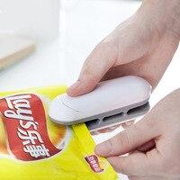 Küche Zubehör Mini Abdichtung Maschine Tragbare Wärme Versiegelung Kunststoff Paket Lagerung Tasche Handlich Aufkleber und Dichtungen für Lebensmittel Snack