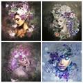 Huacan 5D алмазная живопись на холсте женщина полная квадратная Алмазная вышивка мозаичный портрет фотографии Стразы украшения дома