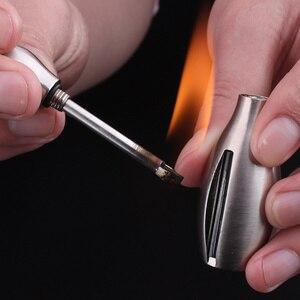 Creative Stainless Steel Torch Lighter Bowling Kerosene Oil Flame Lighter Millions of Matches Flint Fire Starter Lighters(China)