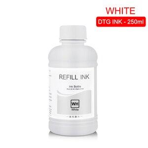 Image 5 - Tinta textil DTG de 250 ML/Set, para Epson DX5 DX7 R330 1390 1400 R1900 R2000 F2000 F2100 (BK C M Y pretratamiento blanco)