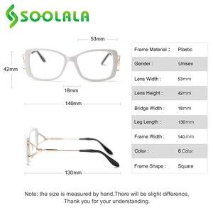 Image 5 - SOOLALA lunettes de lecture carrées pour femmes et hommes, monture à la mode, grossissant presbytes, + 0.5 à 4.0