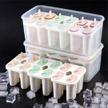 Homemade Food Grade Silicone Ice Cream Molds Summer Ice Lolly Moulds Freezer Ice Cream Bar Molds Maker With Popsicle Sticks free shipping high production 4000 5000pcs day stainless steel 2 moulds ice cream popsicle ice lolly making machine
