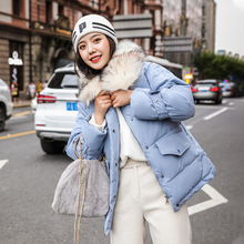 Winter Jacket Women Fashion Pockets Loose Woman Shorts Parkas Padded Fur Parka Long Sleeve Thick Hooded Female