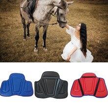 Soft Equestrian Saddle Horse Saddle Pads Sponge Harness PU Wear-resistant Saddle Shockproof Cushion Horse Riding Equipment
