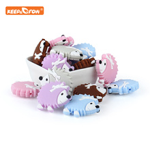 Keep&grow 10Pcs Silicone Beads Hedgehog Baby Products Teethi