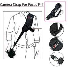 Foco F 1 rápido rápido único ombro cinto câmera pescoço transportar velocidade anti deslizamento sling cinta para canon nikon dslr 7d 5d acessórios