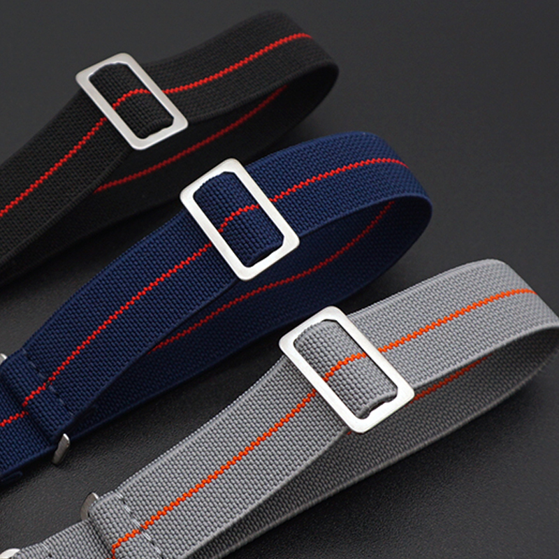 2019 New Arrival French Troops Parachute Bag For Nato Nylon Elastic Belt Watchband 20mm 22mm Watch Strap