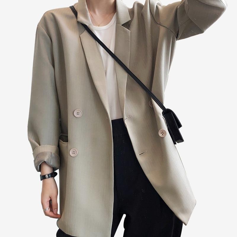 Blazer For Women Fashion Double Breasted Office Lady Stripe Blazers Suit Spring Autumn Formal Coat Jacket Women Blazer Feminino