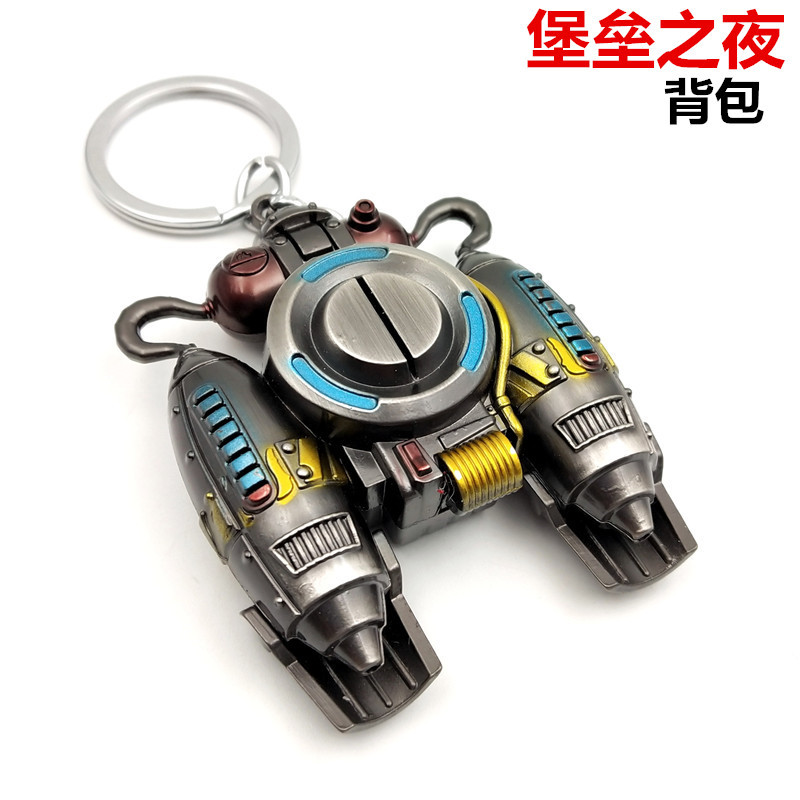 2020 Fortnite Game Keychain Telescope Model Key Chains Collection Anime Figure Metal Keyring Key Chains Fortress Nigh Toys Gift