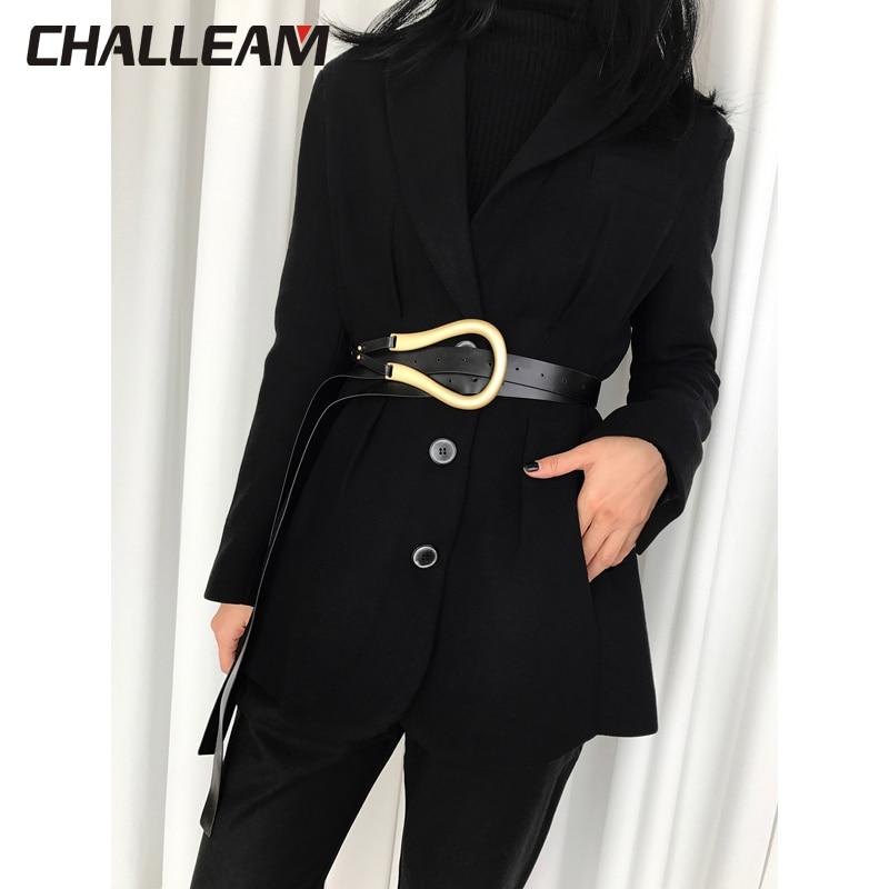 Belt Women's Belt Light Luxury Personality Curved Metal Horseshoe Buckle Large U-shaped Fashion Wild Women's Belt X209