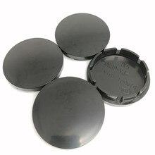 4pcs Wheel Center Cap 56mm Car Styling Hub Caps Cover Emblem 53mm Black