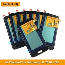 Тест 10 шт./лот ЖК-дисплей для Samsung Galaxy J1 2016 J120 ЖК-дисплей J120M J120F сенсорный экран дигитайзер сборка