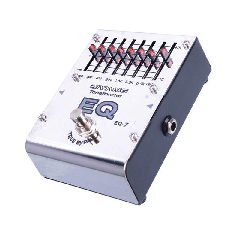 Biyang ToneFancier série EQ-7 7 bandes graphique égaliseur EQ guitare électrique pédale véritable dérivation avec connecteur de pédale d'or