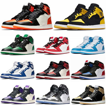 2019 Best 1 I High OG Game Royal Banned Shadow Bred Toe Basketball Shoes Top Quality Clay Green Trainers 1S Sneakers EUR 40-47