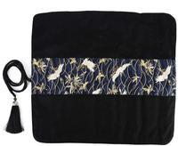 Caneta Caso Titulares de Tecido feito à mão Pintura Escova Lona Roll Up Pencil Bag Bolsa com Bolsos & Tassel Envoltório Grande Capacidade