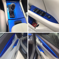 Car Styling 3D/5D Carbon Fiber Car Interior Center Console Color Change Molding Sticker Decals For Cadillac XTS 2013 2018