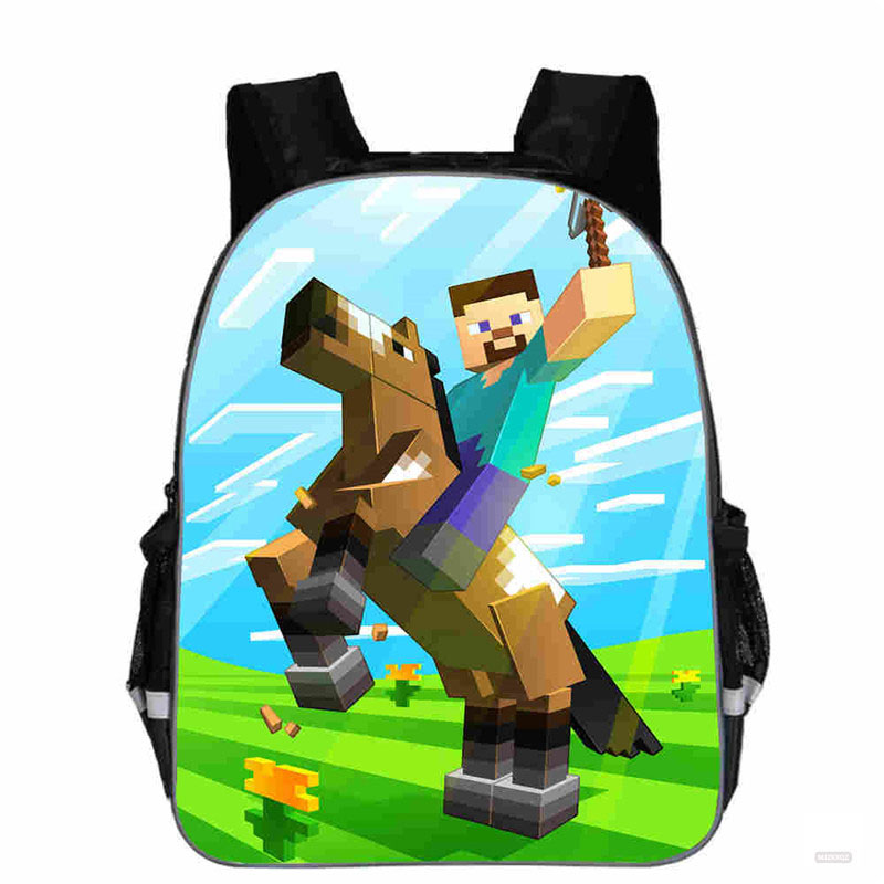 11inch new Cartoon Minecrafting Game Backpack for Teenager <font><b>Laptop</b></font> Mochilas Feminina Student School Backpack Women Travel Bags image
