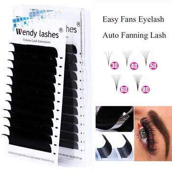 10pcs Fanned Eyelash Extension Russian Volume Fan Faux Mink Lashes Extension de cils Easy Fan Individual Makeup Tools