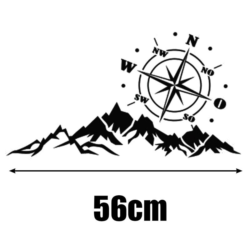 56x30CM 3D High Quality Universal Car Sticker Compass Rose Navigate Mountain Offroad Vinyl Decal No Fading Waterproof Dustproof