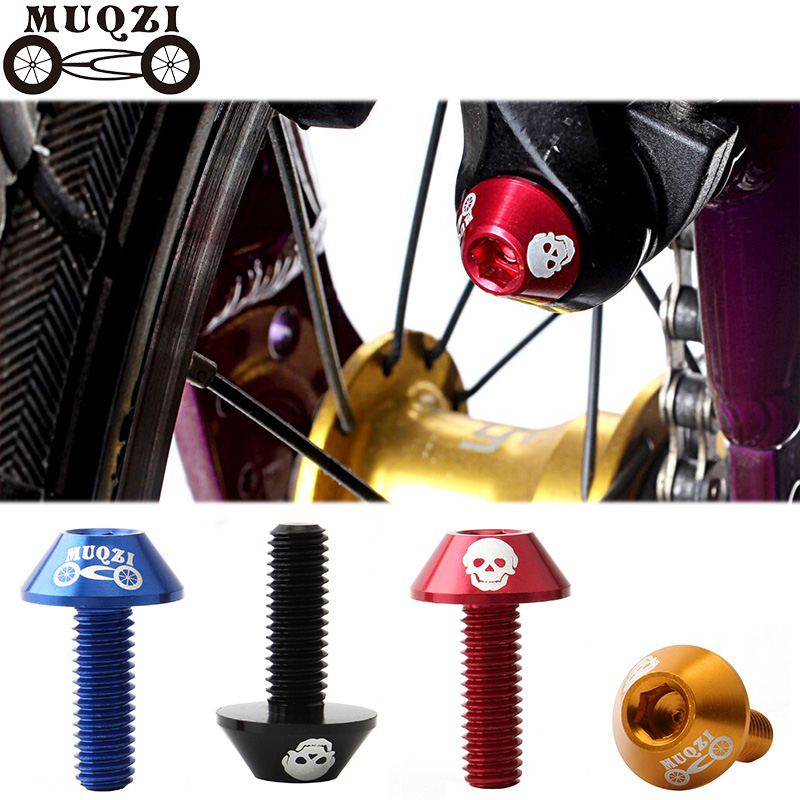 MUQZI  4pcs M6 Aluminum Alloy V Brake Clamp Clamp Brake Screw  7075  Modified Accessories Mountain Road Bike Foldable Bicycle