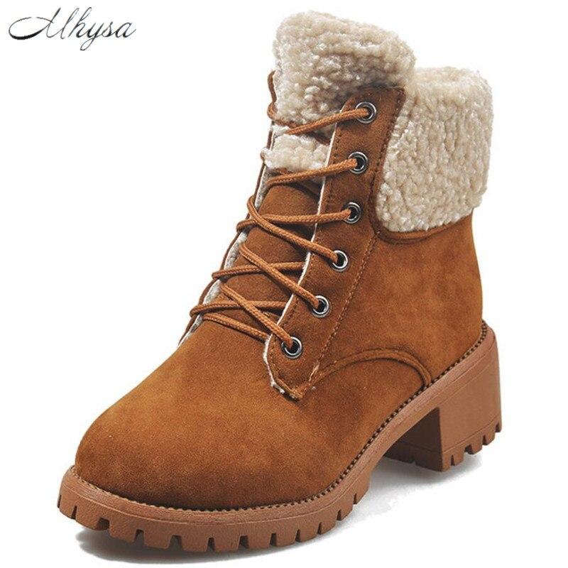 2019 botas de tobillo de cuero de gamuza para mujer botas