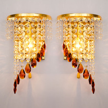 Modern Simple Wall Lamp Individual Creative Bedside Lamps European Crystal Corridor Hallway Led Sconce Wall Lights