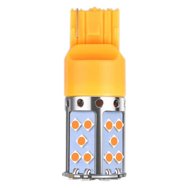 T20 7440 W21W żarówka Led 3030 35Smd canbus Led lampa do samochodu włącz światła sygnalizacyjne bursztynowe oświetlenie 12V 24V