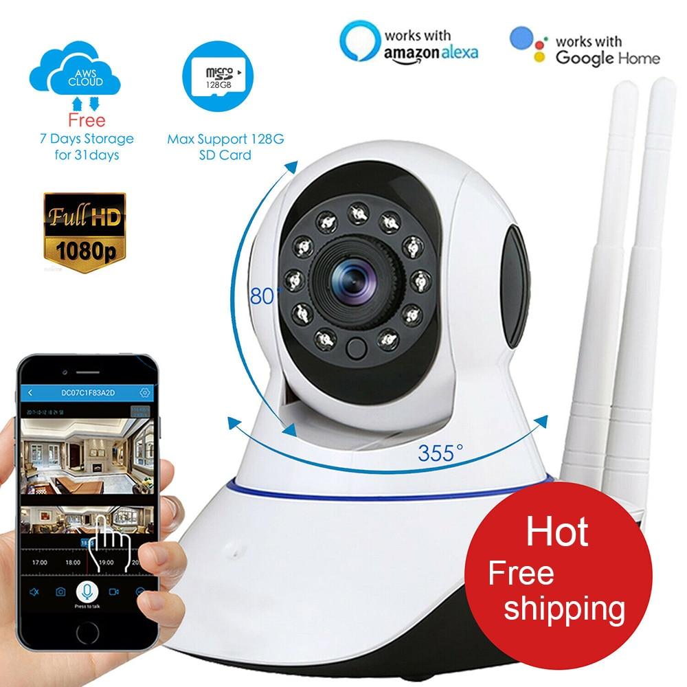 1080P HD Surveillance Camera Wifi Camera Home Security IP Camera Wireless Network Video Surveillance Wi-fi Night Vision