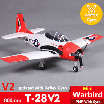 FMS 800MM Mini T28 T-28 Trojan V2 with Reflex Gyro Red 4CH 2S PNP EPO RC Airplane Scale Warbird Model Plane Aircraft War II - DISCOUNT ITEM  18% OFF All Category