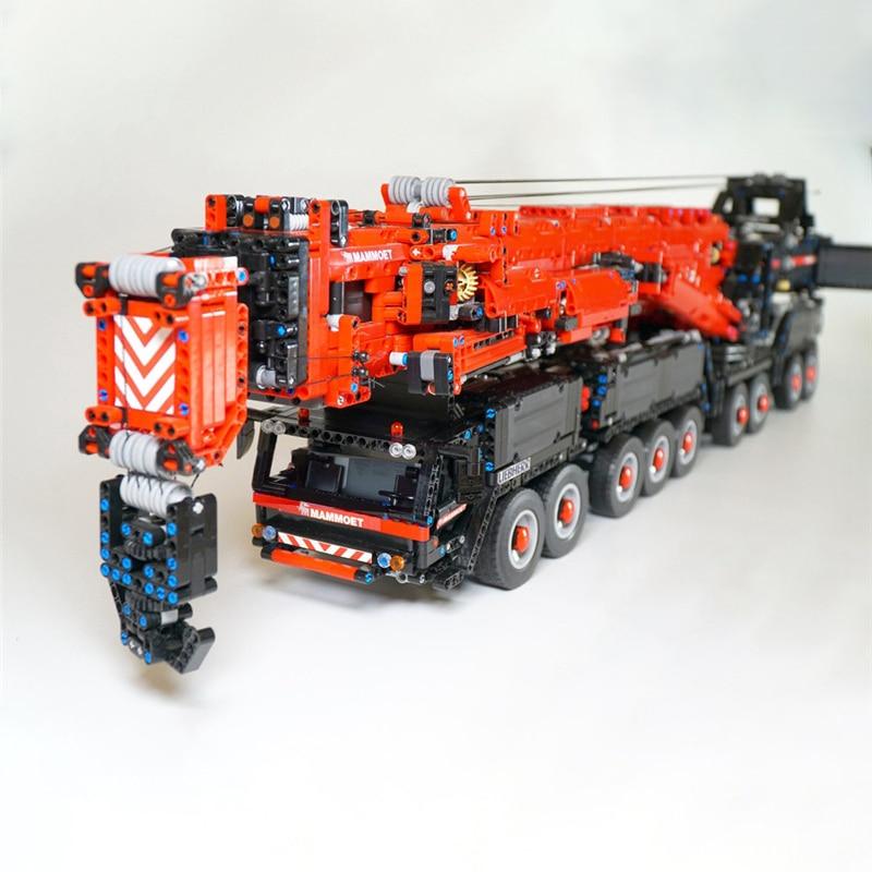 NEW Power Mobile Crane Building LTM11200 RC Technic Motors Kits Blocks Bricks Fit For Lepinnglys Birthday Children Gift