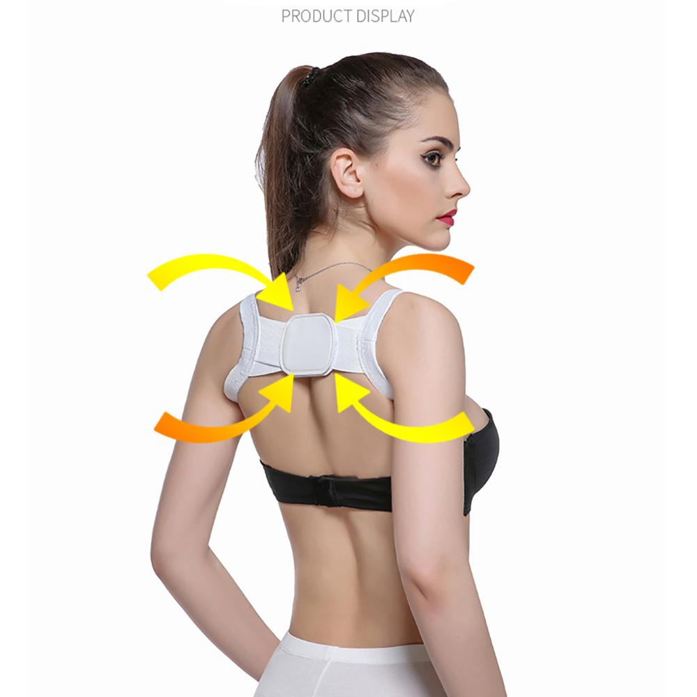 Posture Corrector Device Comfortable Back Support Braces Shoulders Chest Belt