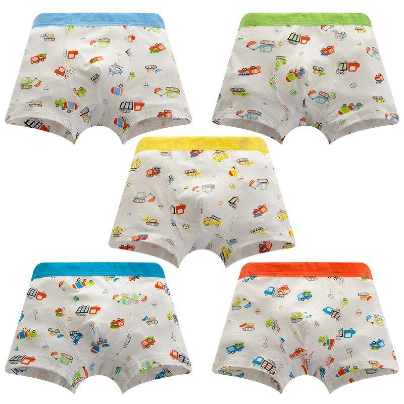 1Pc Boys Boxer Kids Underwear Boy Underpants Boxer Modal Cute Soft Children Underwear 2-10years