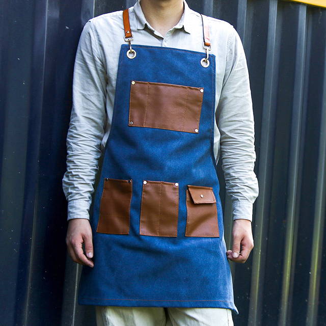 Canvas Kitchen Aprons For Chef Work 3