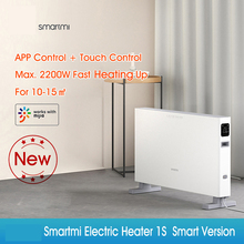 Electric-Heater Fireplace Smartmi 220V Remote-Control Security-Protection Adjustable