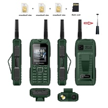 S555 Three Cards Three Standby Outdoor Mobile Phone Standby Long  Can Pull Up Antenna Signal Strongly Send Waist Clip