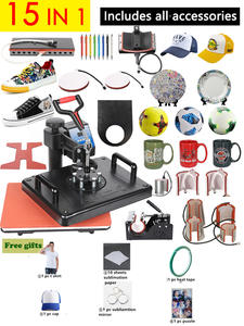 15-In-1-Combo Heat-Press-Machine T-Shirt Mug-Plates-Case Cloth Sublimation-Printer Promotions