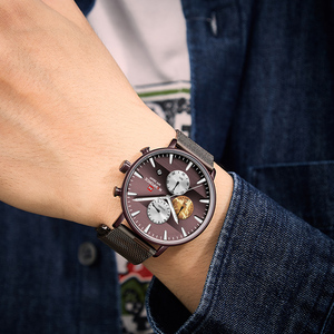 Image 5 - NAVIFORCE Top Luxury Brand Mens Business Quartz Watch Men Stainless Steel Waterproof Mens Watches Chronograph Date Male Clock